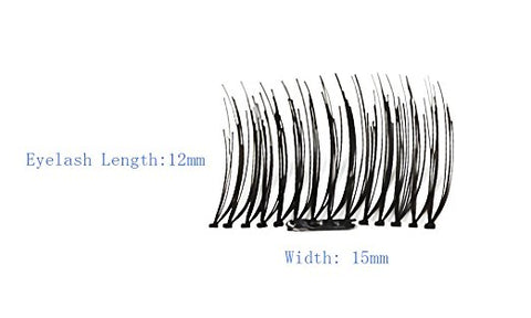 4x Magnetic Eyelashes [No Glue] Premium Magnet Quality False Eyelashes Set for Natural Look - Best Fake Lashes Extensions One Two Cosmetics 3D Reusable Black (007)