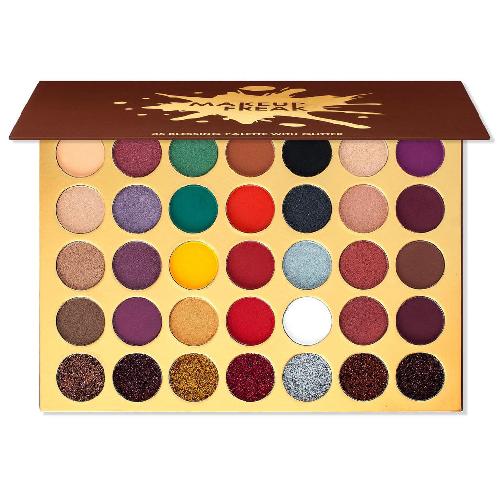 "MAKEUP FREAK ""BLESSING"" 35 COLOR PALETTE WITH GLITTER"