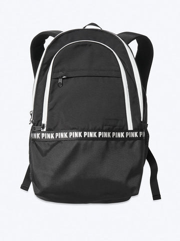 PINK COLLEGIATE BACKPACK BLACK