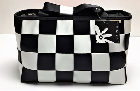 COMELY BLACK AND WHITE BAG