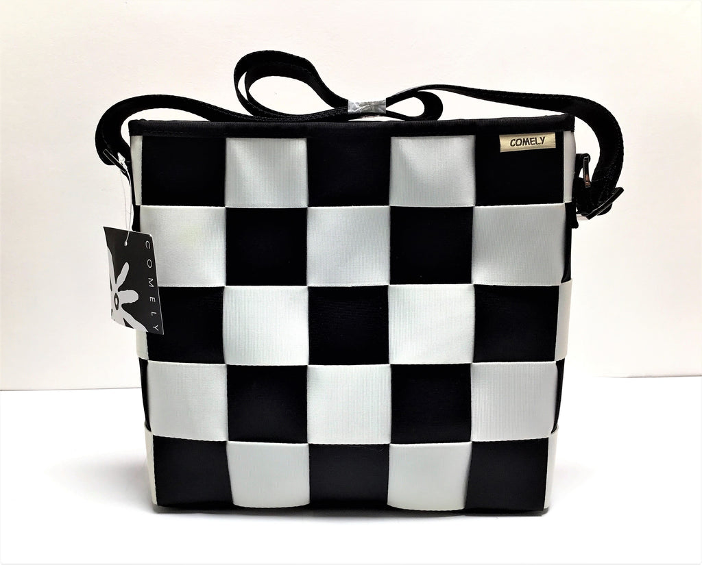 COMELY BLACK AND WHITE CROSS BODY BAG