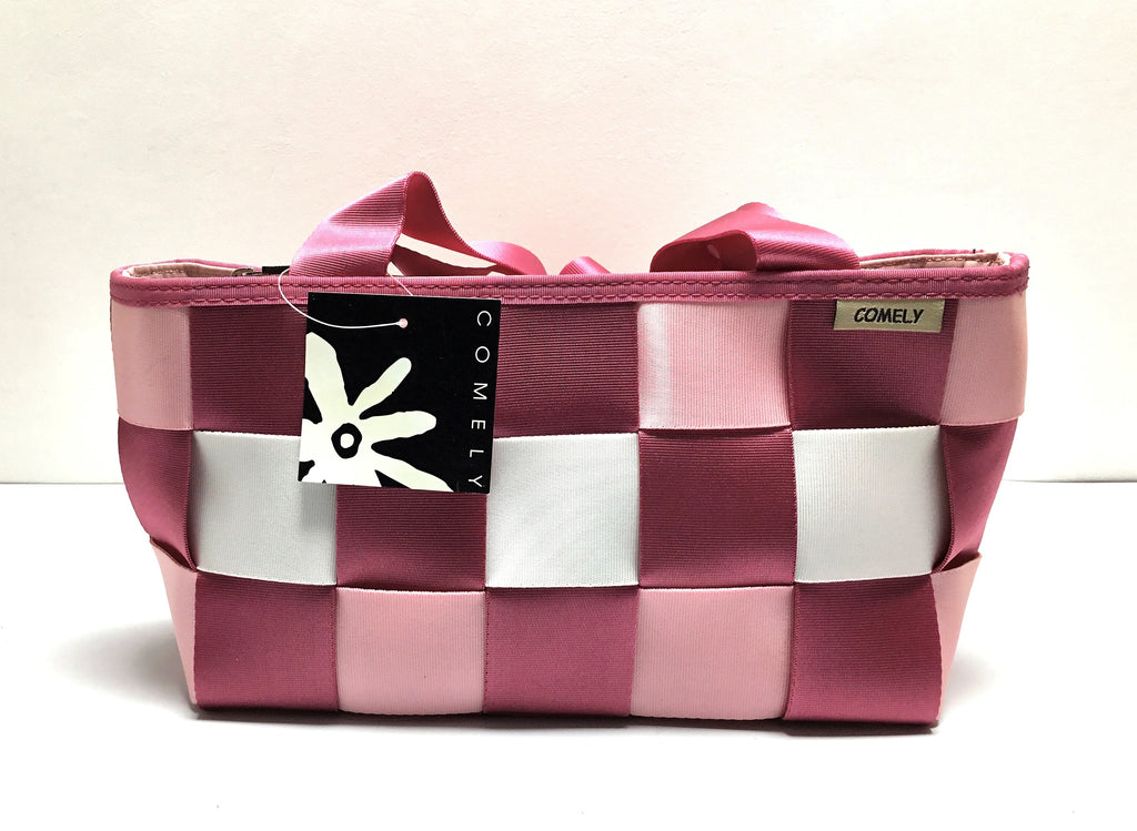 COMELY PINK AND WHITE BAG