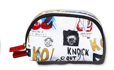 Sonia Kashuk Double-Zip Clutch in Knock Out Beauty Print