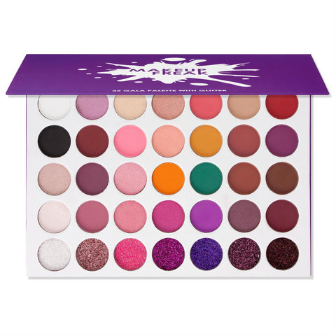 "MAKEUP FREAK ""GALA"" 35 COLOR PALETTE WITH GLITTER"