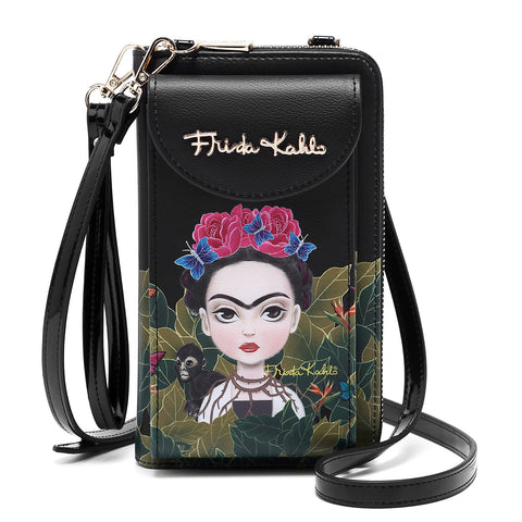 FRIDA KAHLO FLORAL BUTTERFLY CROSSBODY BAG