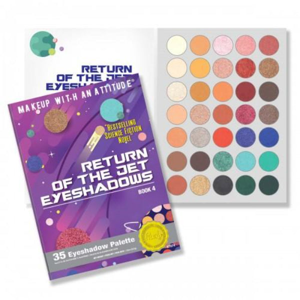 "RUDE COSMETICS ""RETURN OF THE JET EYESHADOWS"" PALETTE (BOOK 4)"