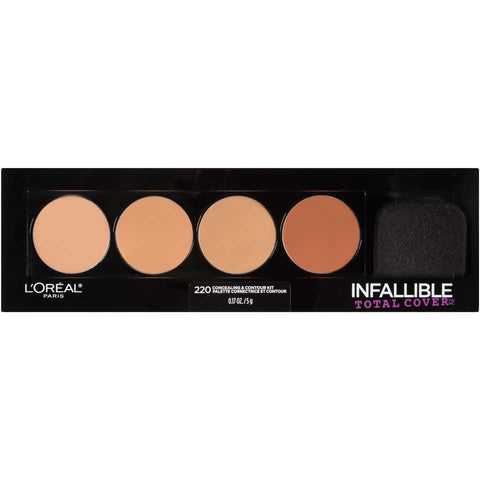 "L'OREAL INFALLIBLE TOTAL COVER CONCEALING & CONTOUR KIT ""220"""