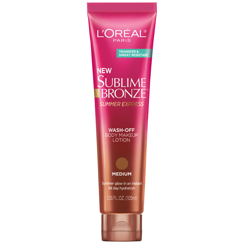 "L'OREAL SUBLIME BRONZE WASH-OFF BODY MAKEUP LOTION ""MEDIUM"""