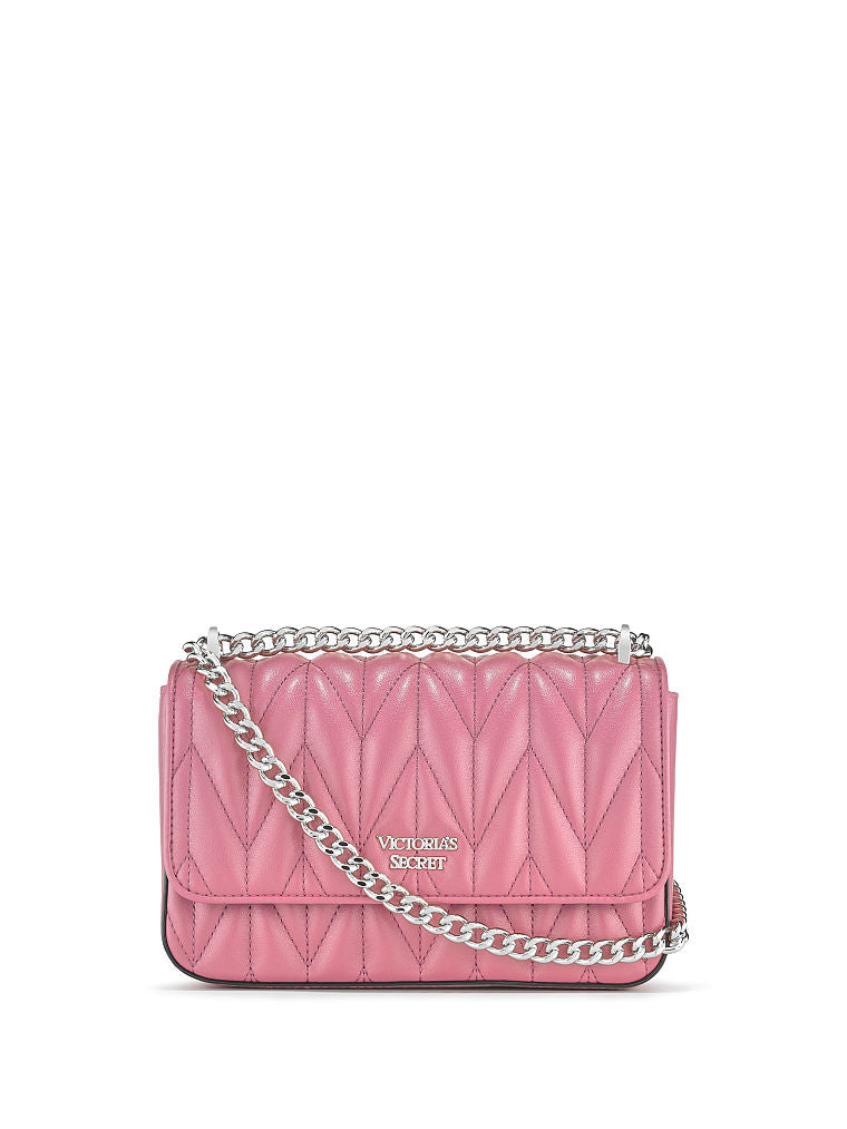 VICTORIA'S SECRET CHEVRON QUILT SMALL BOND STREET SHOULDER BAG