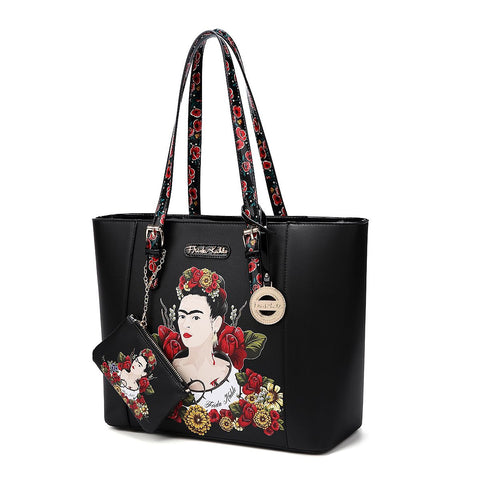 FRIDA KAHLO FLORAL BOUNTY 2-in-1 SHOPPER TOTE