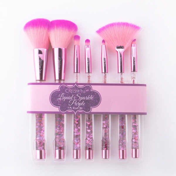 BEAUTY CREATIONS LIQUID PURPLE SPARKLE BRUSH SET