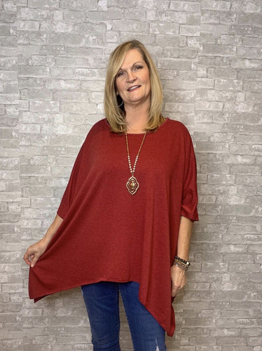 One size-Staci-Heather Ruby - Curvature Clothing