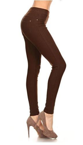 Jeggings-Brown - Curvature Clothing