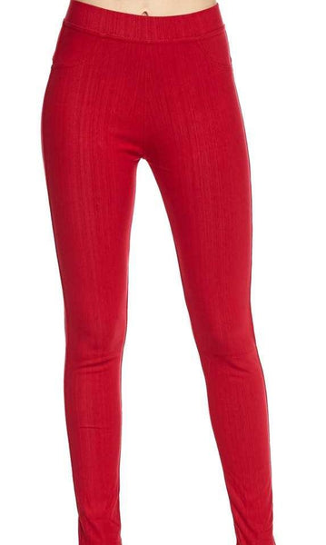 Jeggings- Red - Curvature Clothing