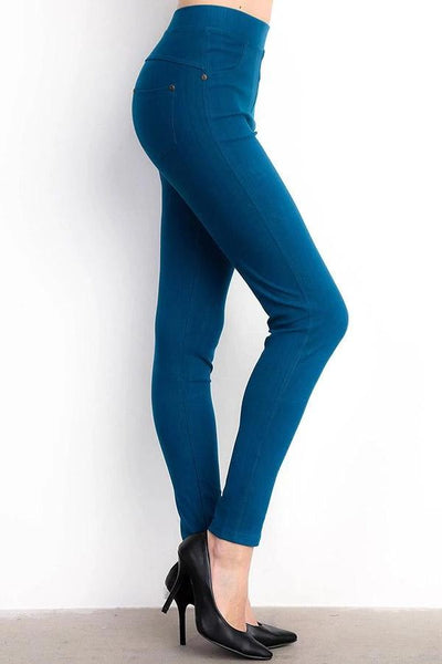 Jeggings- Teal - Curvature Clothing