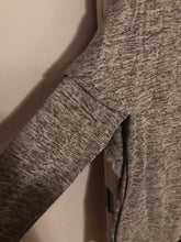 Load image into Gallery viewer, Missy  Pancho style turtleneck hoodie with sleeve-grey