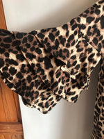 Missy  animal print top with tiered bell sleeve-brown/black/tan - Curvature Clothing