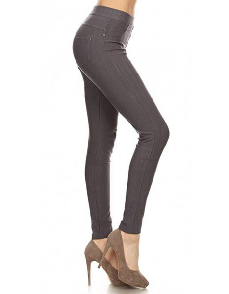 Jeggings- Charcoal - Curvature Clothing