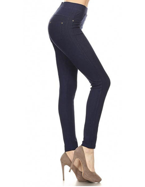 Jeggings-Navy - Curvature Clothing