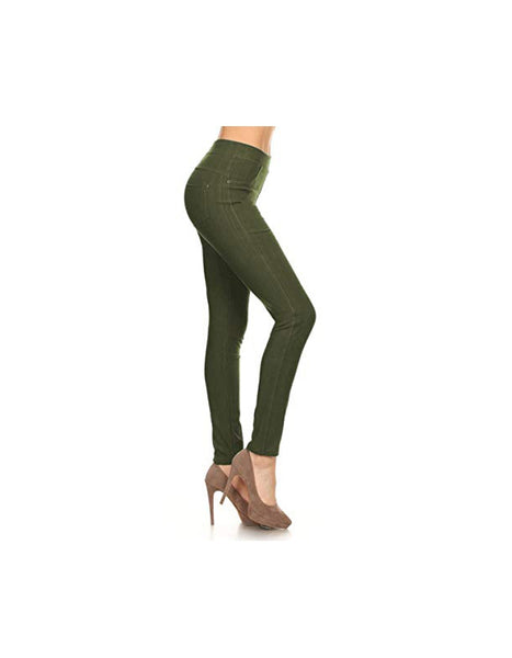 Jeggings-Olive - Curvature Clothing