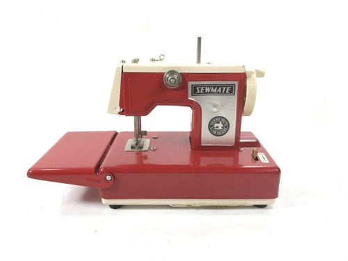 Vintage Red Sewmate Tin Toy Sewing Machine