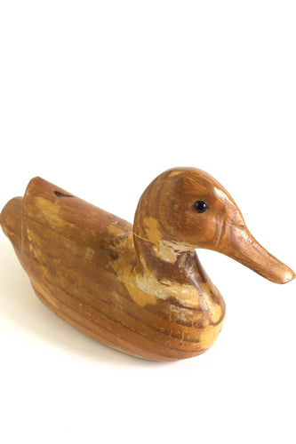 Bohemian Wooden Duck Decoy, Vintage