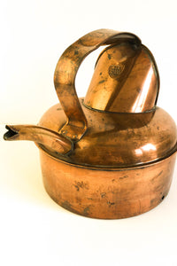 Copper Kettle, Vintage, W&R Shield, Rustic
