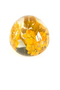 Handblown Glass, Flower, Paperweight, Vintage