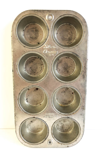 Silver Beauty Ekcoloy T800 8 Cup Muffin Cupcake Baking Tin