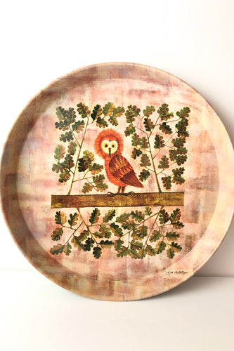 Tin Owl Tray, Elite Tray, England