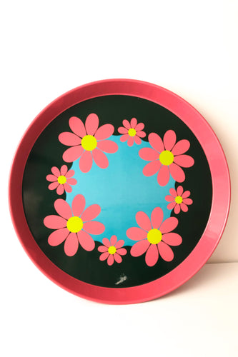 Retro Flowers Tin Tray, Elite Trays, England