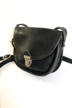 Load image into Gallery viewer, Roots Crossbody Purse Black Leather With Adjustable Strap