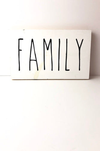Rae Dunn Inspired 'Family' Hand Painted Wooden Sign