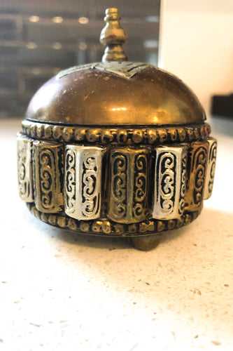 Bohemian Copper & Metals Trinket Dish