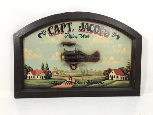 Captain Jacob's Flying Club Sign