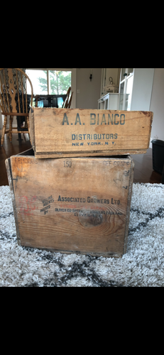 A.A. Bianco Wooden Fruit Crate