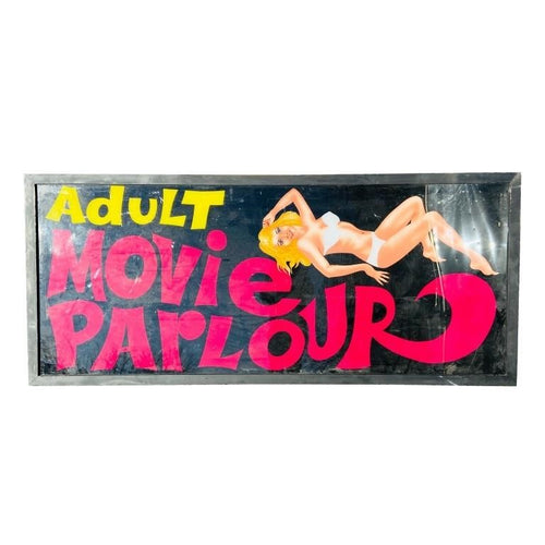 Adult Movie Parlour Pin Up Girl Sign