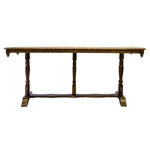 Antique Solid Trestle Refectory Farm Table