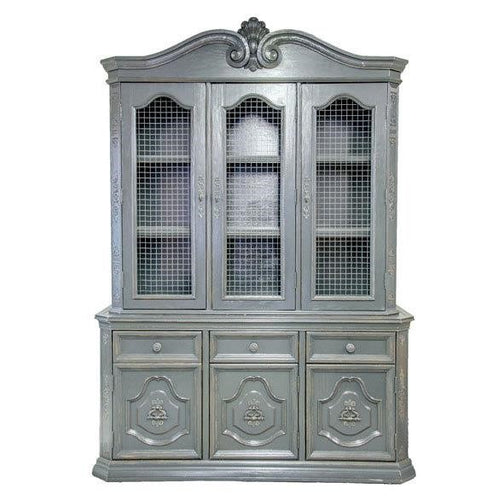 Custom Chicken Wire Charcoal Hutch