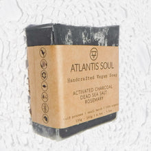 Load image into Gallery viewer, Activated Charcoal + Dead Sea Salt + Rosemary Handmade Soap