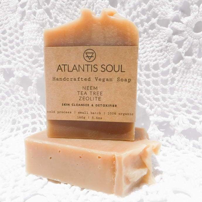 Neem + Tea Tree + Zeolite Handmade Organic Soap