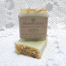 Load image into Gallery viewer, Calendula + Shea Butter + Vitamin C Handmade Soap