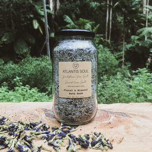 Zechstein Sea Salt + Dead Sea Salt + Butterfly Pea Bath Salts