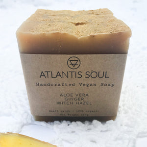 Aloe Vera + Ginger + Witch Hazel Handmade Soap