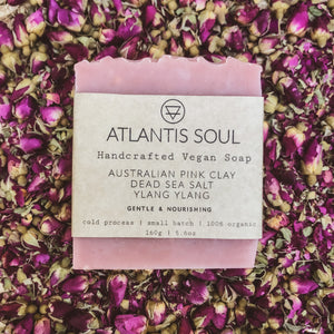 Dead Sea Salt + Rose Water + Ylang Ylang Handmade Soap