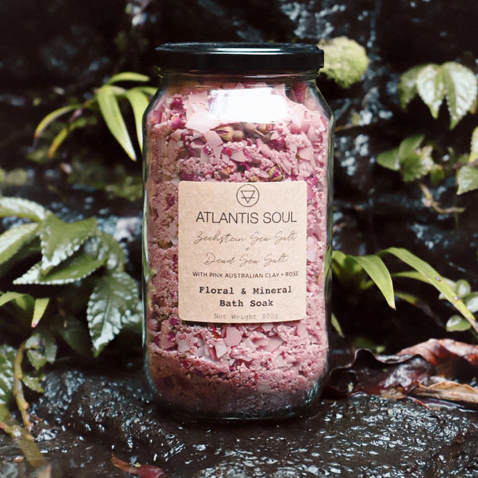 Zechstein Sea + Dead Sea + Rose Bath Salts (optional w/pink clay)
