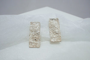 Rectangular Dead Coral Earrings - Maddison Bygrave