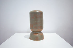 Dark Green-Grey Cylindrical Vase - LL Cool Glaze