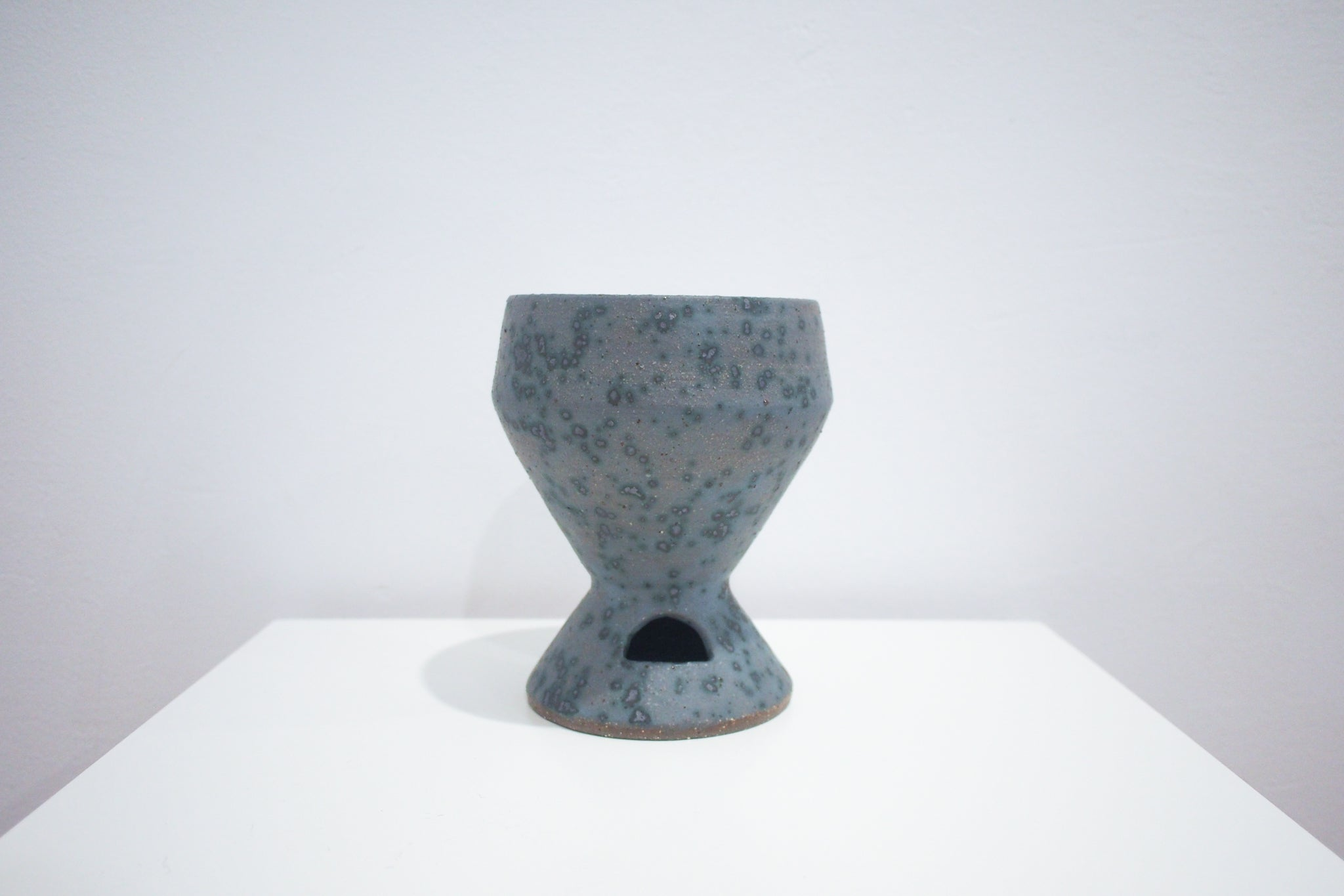 Dark Blue Speckled Planter - LL Cool Glaze