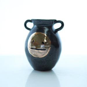 Blah Face Handled Mini Vase #1 - Bonnie Hislop